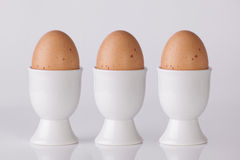 三个煮沸的鸡蛋 库存照片