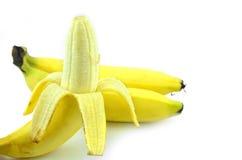 三个煮熟的香蕉 免版税库存照片