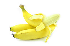 三个煮熟的香蕉 库存图片