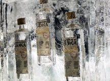 三个瓶伏特加酒 免版税库存图片