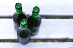三个瓶啤酒 库存图片