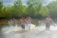 三个男朋友 免版税图库摄影
