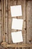 三个白色贴纸附属的按钮 免版税库存图片