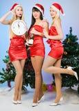 三个相当性感的女孩 免版税库存图片