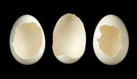 三个空的鸡蛋 免版税库存照片