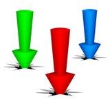 三个箭头 向量例证