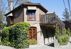 三个米其林星餐馆法国洗衣店在Yountville,纳帕谷 免版税库存图片