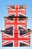 三个英国箱子 图库摄影