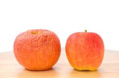三个苹果,三类型。 免版税库存照片