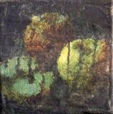 三个苹果,混合画法艺术 库存图片