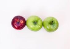 三个苹果 库存照片