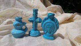 三个蜡烛台 免版税库存图片