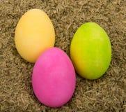 三个被绘的复活节彩蛋 免版税库存图片
