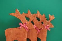三个装饰物驯鹿 库存照片