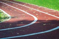 三个跑马场在体育场内 免版税库存图片