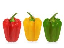 三个辣椒的果实 免版税库存照片