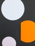 三个通报色的正文框的例证 图库摄影