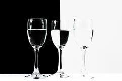 三个酒杯 免版税库存图片