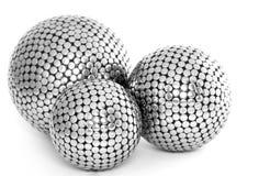 三个金属球 免版税图库摄影