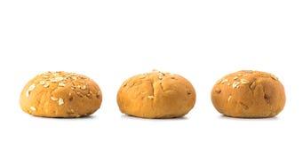 三个面包小圆面包 免版税库存照片
