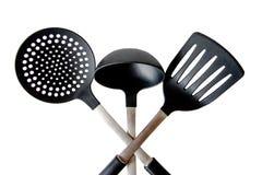 三个项目的厨房工具 免版税图库摄影