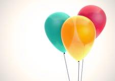 三个颜色气球 库存图片