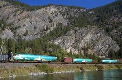 三个飞机机体乘坐货车的平车 库存照片