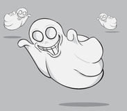 三个鬼魂例证 库存照片
