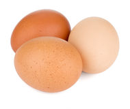三个鸡蛋 图库摄影