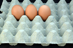 三个鸡蛋 免版税库存图片