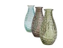 三个玻璃花瓶装饰 库存图片