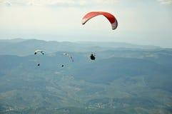 三个滑翔伞 免版税图库摄影