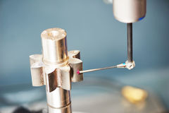 三个D座标钝齿轮测量 库存照片