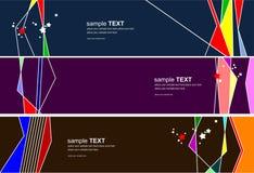 三五颜六色的网络设计模板 免版税库存图片
