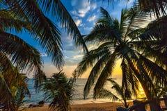 三亚海岛海岸  免版税库存照片