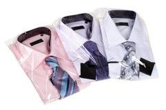 三件人的衬衣 免版税图库摄影
