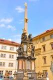 三位一体专栏,布拉格,捷克 免版税图库摄影