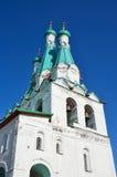 三位一体亚历山大Svirsky修道院的钟楼 片段 免版税库存照片