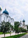 """三位一体圣Sergius â€拉夫拉""""最大的正统男性修道院在俄罗斯 库存照片"""