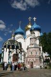 三位一体圣Sergius -最大的正统男性修道院拉夫拉在俄罗斯 图库摄影