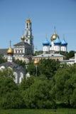 三位一体圣Sergius -最大的正统男性修道院拉夫拉在俄罗斯 免版税库存照片