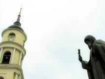 三位一体大教堂在卡卢加州在俄罗斯 免版税库存照片