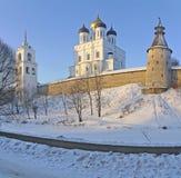 三位一体大教堂在普斯克夫 图库摄影