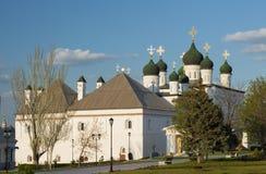 三位一体大教堂在阿斯特拉罕克里姆林宫 库存图片
