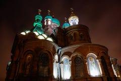 三位一体大教堂在krasnodar城市 免版税库存照片