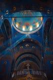 三位一体大教堂壮观的内部  库存照片