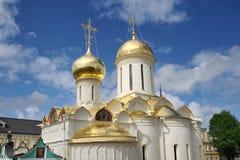 三位一体大教堂金黄圆屋顶有圣尼康教会的 免版税图库摄影