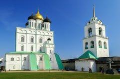 三位一体大教堂,普斯克夫 免版税库存照片