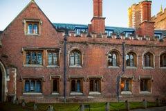 三位一体学院视图,剑桥 免版税库存照片