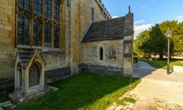 三位一体教会南门面门廊 库存照片